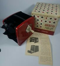 New ListingPlaying Card Shuffler Arrco 1-2-3 Decks Hand Crank with Box