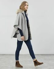 Joules Womens Everly Reversible Cape - GREYCHECK Size XS