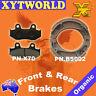 FRONT REAR Brake Pads Shoes for HONDA XR 600 RF/RG/RH 1985 1986 1987