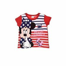 """Minnie Mouse Baby Mädchen Kinder T-Shirt """"Hello Summer"""" Rot 6-24 Monate"""