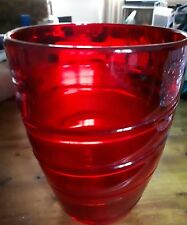 WHITEFRIARS Ruby Red vase