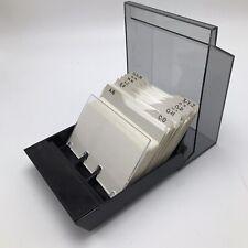 Rolodex S 310c Business Card File Smoke Lid Black Base Az Dividers Blank Cards