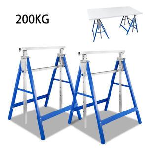 Gerüstbock Arbeitsbock 7-fach höhenverstellbar Klappbock Stahl Metallbock 2x