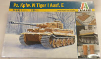 Italeri 1/35 Pz Kpfw VI Tiger I Ausf E Tank Model Kit 6471