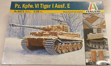 Italeri 1/35 Pz Kpfw VI Tiger I Ausf E Tank Model Kit 6471