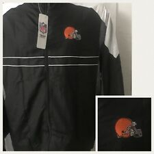 nwt CLEVELAND BROWNS NFL TEAM Apparel SI Dunbrooke mens L WINDBREAKER zip JACKET