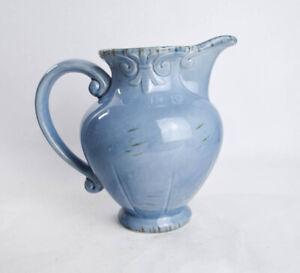 Target Home Blue Decorative Pitcher Pourer Vase Classical Shabby Farmhouse Chic