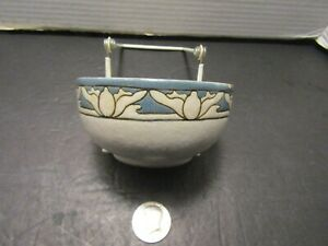 Paul Revere Pottery SEG decorated small bowl lotus 1910 Signed TB (as is)
