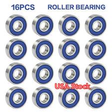 16pcs ABEC 9 608RS Roller Skate Longboard Skateboard Ball Wheel Bearing US