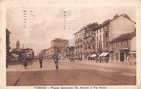 Cartolina - Postcard - Torino Piazza De Amicis Via Nizza Animata 1936 VG