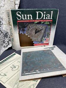 Whitehall Vtg 80s Bronze Tone Metal Sun Clock Time Sundial Garden Yard NIB USA