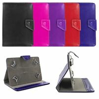 "Premium Universal 7"" Folio Leather Case Cover Skin w/ Stand for 7-inch Tablet"