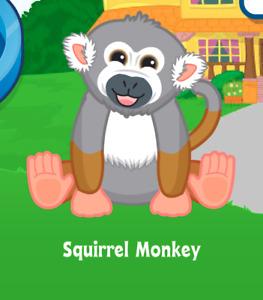 Webkinz Squirrel Monkey Webkinz Code Only! Virtual Adoption Code! Webkinz Monkey