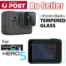 2x LCD Screen Lens Screen Protector Film Tempered Glass for GoPro Hero 5 Camera