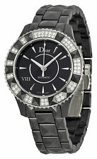 Christian Dior VIII Automatic Diamond Black Ceramic Ladies Watch 1235E0C001