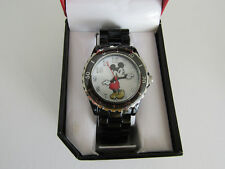 "Disney Mickey Mouse Men""s Watch Black Metal With Rotating Bezel  MCKAQ1153"