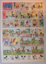 Mickey Mouse Sunday Page by Walt Disney from 9/21/1941 Tabloid Page Size