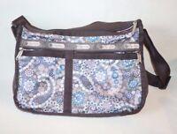 LeSportsac nylon crossbody shoulder bag messenger expandable Paisley