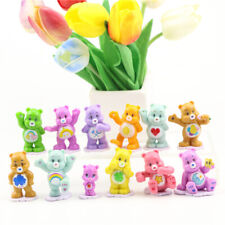 12PCS CARE BEARS CAKE TOPPERS 12 PLASTIC FIGURES BRAND NEW Gift For Kids