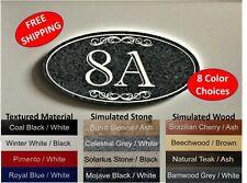 "3"" x 6"" Elegant Oval House Number Sign, marble, granite, wood address sign -H"