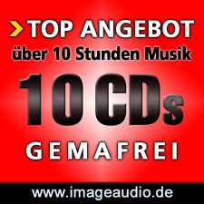 10 CDs GEMAFREIE MUSIK - POP SWING BLUES FUNK JAZZ - LIZENZFREI AKM SUISA FREI
