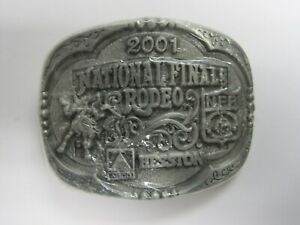 National Finals Rodeo Hesston 2001 NFR Youth (Small) Cowboy Buckle New AGCO PCRA
