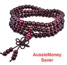 108 Sandalwood Tibetan Mala Buddhist Meditation Prayer Rosary Beads Bracelets