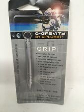 Zero 0-Gravity Diplomat Grip Space Pen - Germany  Silver Writes In All Condition