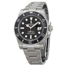 Rolex Oyster Perpetual Submariner Black Dial Black Cerachrom Bezel Steel Men's