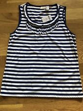 NWT~ Chicos Blue and White Striped Tank Top Size~ 1