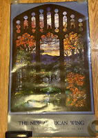 "THE NEW AMERICAN WING -METROPOLITAN MUSEUM OF ART POSTER -""Stained  Glass"""