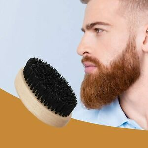 Beard Brush for Men Pear Wood with 100% Boar Hair Tame and Soften Facial Hair