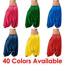 Bauchtanz Satin Hosen Belly Dance Aladdin Bombachos Pantaloons Harem Yoga Pants