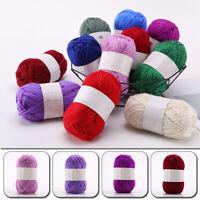 Glitter Swirl Silver Yarn Wool Crochet Knitting Cotton Thread