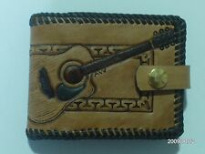 AW LEATHER GOODS ACOUSTIC GUITAR HAND CARVED GUITAR WALLET