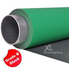 ChromaKey Green & Grey Double Sided Photo Backdrop Vinyl - B Grade - 2.7m x 3m