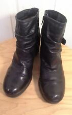 "Ladies black leather ankle boots by""Naturalizer""size 6uk (RUBY)"