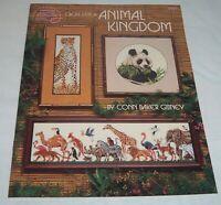 American School of Needlework Cross Stitch Animal Kingdom Pattern Book Lion Deer