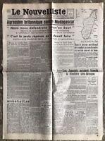 N13 La Une Du Journal Le Nouvelliste 6 Mai 1942