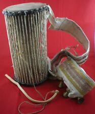 RARE Talking Drum (IYA-ILU) Made in Nigeria Ozidel, Extra Large Wood Carved