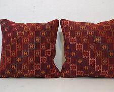 14x14 Set Of TWO Vintage Kilim Pillow Cover,Tribal Kilim Pillow Case Boho Style