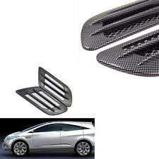 1 Pair  Side Air Vent Fender Sticker Cover Hole Intake Flow  Carbon Fiber Style