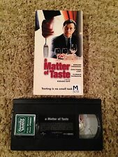 A Matter of Taste (2000)-VHS Video Tape - Thriller - French w/ English Subtitles