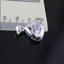Wholesale Jewelry 925 Sterling Silver Crystal Drip Pendants Necklaces