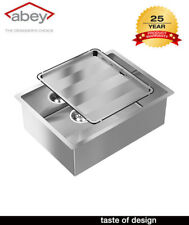 ABEY PIAZZA SQUARE BOWL CR540 SIGLE BOWL Kitchen SINK WITH DRAIN TRAY