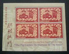 Grenada Year Of The Pig 2007 Chinese Zodiac Lunar Paper Art Cut 中国猪年剪纸 (ms) MNH