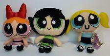 "Powerpuff Girls Blossom Buttercup And Buttercup Small 8"" Plush Figure Lot Of 3"
