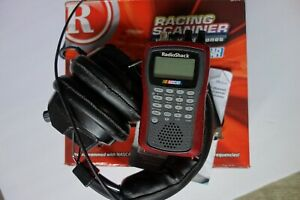 RADIO SHACK PRO-83 RACING SCANNER AND HEADPHONES