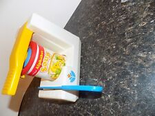 Vintage 1987 Fisher Price Fun With Food Can Opener Knife Sharpener Play Set