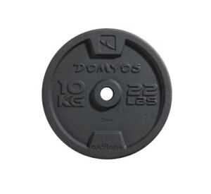 x2 10KG Weight Plates Cast Iron 28mm Domyos - (10 KG/22LBS) Brand new!!!